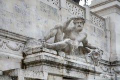 Rome Italien - November 18, 2017 altare av den fäderneslandAltare dellaen Patria som är bekant som den nationella monumentet till Royaltyfri Foto