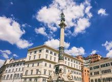 Rome Italien - obefläckad befruktning för kolonn royaltyfri foto