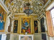 ROME ITALIEN OKTOBER 10, 2017: Det barocka stilkapellet i Royaltyfri Bild