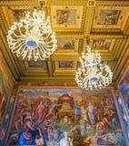 ROME ITALIEN OKTOBER 10, 2017: Hallen av kaptener utsmyckade Ceil Arkivfoton