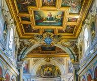 ROME ITALIEN OKTOBER 10, 2017: Inre av basilikan av royaltyfri bild
