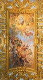 ROME ITALIEN - OKTOBER 12, 2017: Sant ` Ambrogio e Carlo al Corso royaltyfri foto