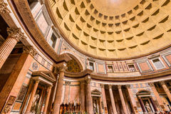 Rome Italien - panteon Royaltyfri Foto