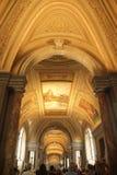 Rome Italien - September 02, 2017: Härligt konster för måla på taket inom Vaticanenmuseum royaltyfri foto