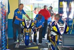 ROME ITALIEN - SEPTEMBER 30 2007 Superbikemästerskap, Max Neu Royaltyfri Fotografi
