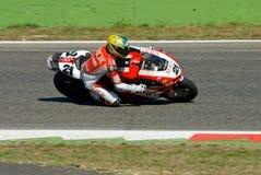 ROME ITALIEN - SEPTEMBER 30 2007 Superbikemästerskap, Vallelu Fotografering för Bildbyråer