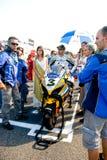 ROME ITALIEN - SEPTEMBER 30 2007 Superbikemästerskap, Vallelu Royaltyfria Bilder
