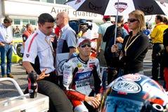 ROME ITALIEN - SEPTEMBER 30 2007 Superbikemästerskap, Vallelu Arkivbild