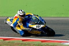 ROME ITALIEN - SEPTEMBER 30 2007 Superbikemästerskap, Vallelu Arkivfoton