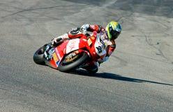 ROME ITALIEN - SEPTEMBER 30 2007 Superbikemästerskap, Vallelu Royaltyfri Foto