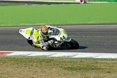 ROME ITALIEN - SEPTEMBER 30 2007 Superbikemästerskap, Vallelu Royaltyfri Bild