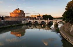 Rome Italien - slott av helgonet Angelo Arkivfoto