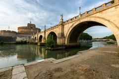 Rome Italien - slott av helgonet Angelo Royaltyfri Foto
