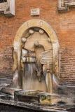 ROME ITALIEN - springbrunn av böcker, en härlig springbrunn arkivfoton
