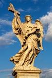 Rome Italien - staty av en ängel Royaltyfria Foton