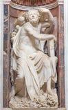 ROME ITALIEN: Staty för profetHabakkuk marmor i det Chigi kapellet i basilikadi Santa Maria del Popolo Arkivbilder