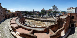 Rome Italien - Trajan forum Arkivbild