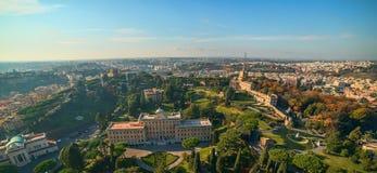 Rome Italien: Trädgårdar av Vatican City State Arkivbild