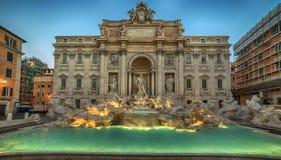 Rome Italien: Trevi-springbrunnen Arkivfoto