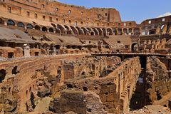 ROME ITALY – June 15 2017: Tourists visiting the Roman Colosseum  Coliseum Colosseo Royalty Free Stock Images