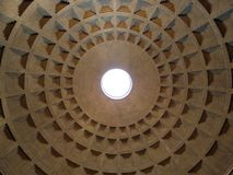 Roof of the Pantheon in Rome royalty free stock photography