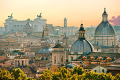 Rome, Italy. View of Rome from Castel Sant'Angelo, Italy Royalty Free Stock Images