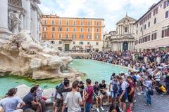 Free Rome, Italy - 23.06.2018: Trevi Fountain In The Evening, Rome, I Royalty Free Stock Photos - 122054328