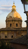 Rome, Italy. View on the catholic church dome Royalty Free Stock Images