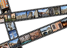 Rome, Italy. Film strips with travel photos. Rome, Italy, Europe Stock Image