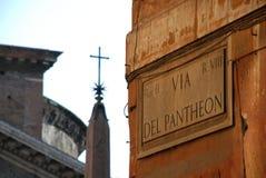 Rome, Italy. Via Del Pantheon Stock Photo