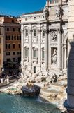 ROME Italy: Aerial View of The Trevi Fountain, Fontana di Trevi, Famous Sightseeing Rome royalty free stock photos