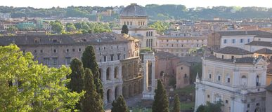 Rome, Italy. Ancient buildings in Rome. View from a hill Stock Photos