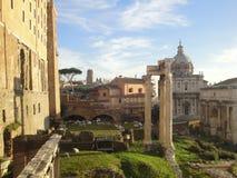Rome, Italy, Ancient Roman Forum Stock Photos
