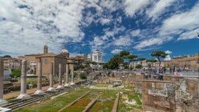 Rome, Italy - ancient Roman Forum timelapse hyperlapse, UNESCO World Heritage Site stock video