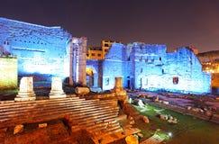 Rome, Italy. Ancient Roman ruins in Foro Traiano Stock Photo