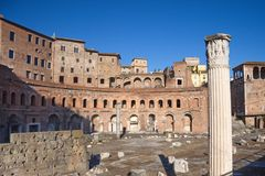 Rome, Italy. Ancient ruins in the city of Rome, Italy Stock Photography