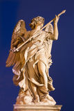 ROME, ITALY, 2016: Angel with the Lance by Domenico Guidi, Ponte Sant'Angelo - Angels bridge Stock Image