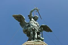 Bronze angel above Castel Sant`Angelo stock image