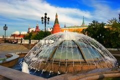 Moscow, Russia - September 18, 2017: Famous Moscow Manezh square. Cityscape of Manezhnaya square in city center of Moscow, Russia. royalty free stock photography