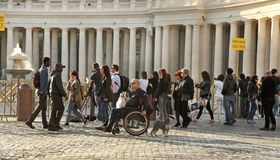 Rome, Italy - APRIL 10, 2016: Tourists Are Visiting St. Peter&x27;s Basilica In The Vatican. St. Peter&x27;s Basilica Is One Of Royalty Free Stock Images