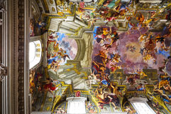 ROME, ITALY - APRIL 20: The Church of St. Ignatius of Loyola at. Campus Martius (Chiesa di Sant'Ignazio di Loyola in Campo Marzio) is Roman Catholic titular Stock Photos