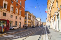Cityscape and generic architecture from Rome, the Italian capital. Rome, Italy - April 5, 2019: Cityscape and generic architecture from Rome, the Italian capital royalty free stock images