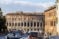 Cityscape and generic architecture from Rome, the Italian capital. Rome, Italy - April 5, 2019: Cityscape and generic architecture from Rome, the Italian capital stock photography