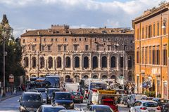Cityscape and generic architecture from Rome, the Italian capital. Rome, Italy - April 5, 2019: Cityscape and generic architecture from Rome, the Italian capital stock image