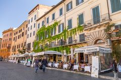 Navona Square in Rome, Italy. Rome, Italy - April 5, 2019: Cityscape and generic architecture from Rome, the Italian capital. Navona Square stock photos