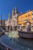 Navona Square in Rome, Italy. Rome, Italy - April 5, 2019: Cityscape and generic architecture from Rome, the Italian capital. Navona Square royalty free stock photos