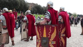 Roman Legionaries stock footage