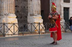 The gladiator at Colloseum royalty free stock photo