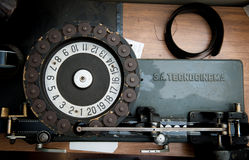 ROME, ITALY - APRIL 22nd 2015. Professional vintage machine for Royalty Free Stock Images