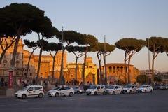 ROME, ITALY - APRIL 9, 2015: Piazza Venezia at sunset on April 9 Stock Photo